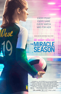 The Miracle Season; young woman in volleyball uniform holding colored volleyball