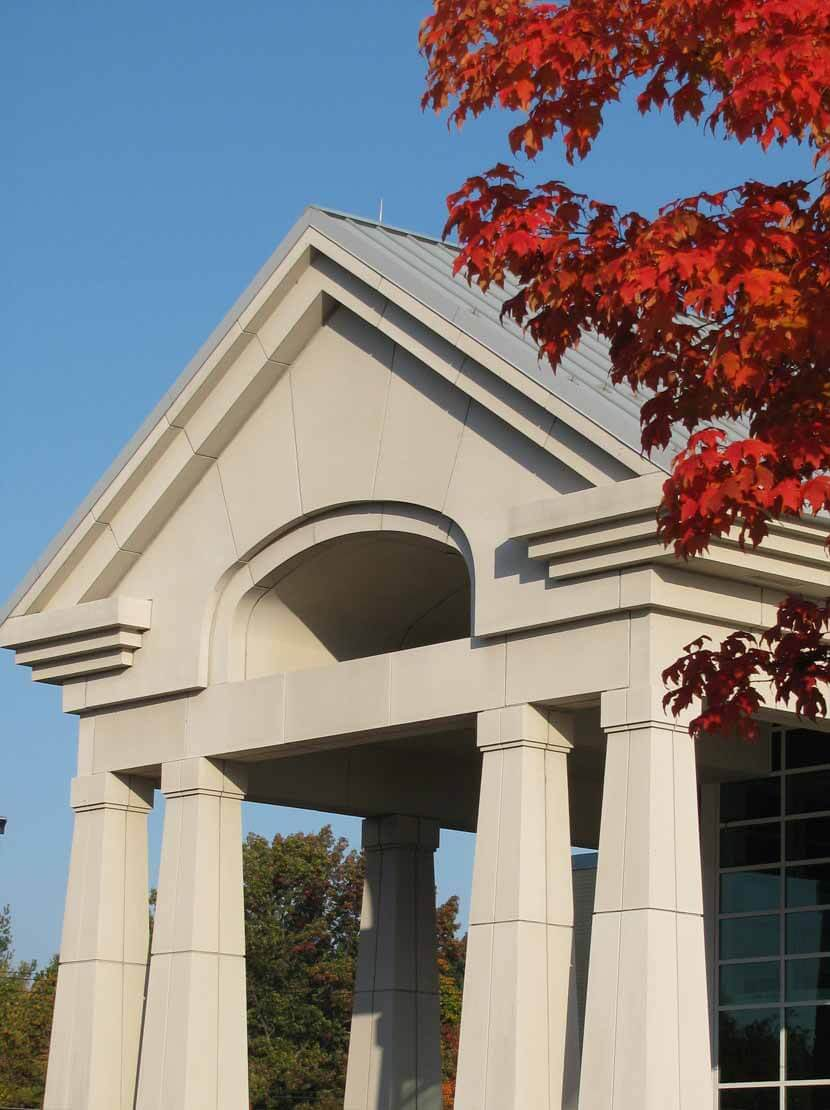 Front Archway of Library in Fall