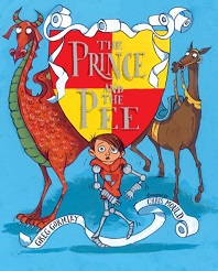 The Prince and the Pee by Greg Gormley; young boy standing between a dragon and horse
