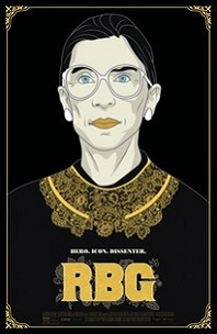 RBG; drawing of Ruth Bater Ginsburg bust