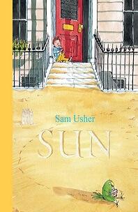 Sun by Sam Usher; child sitting on porch steps next to sidewalk railing