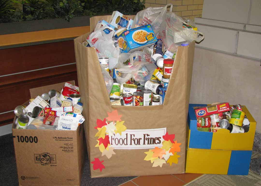 Past Year Food For Fines Collection
